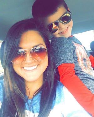 Nikki Mortion and her 6-year-old son, Kade Hyatt