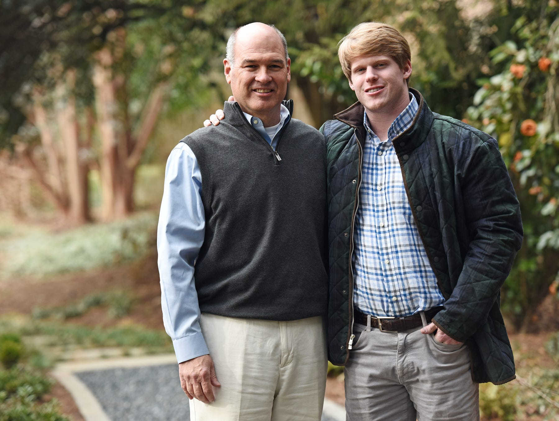 Will Wynkoop, right, and his mentor Walter Tollison at Tollison's home in Greenville.