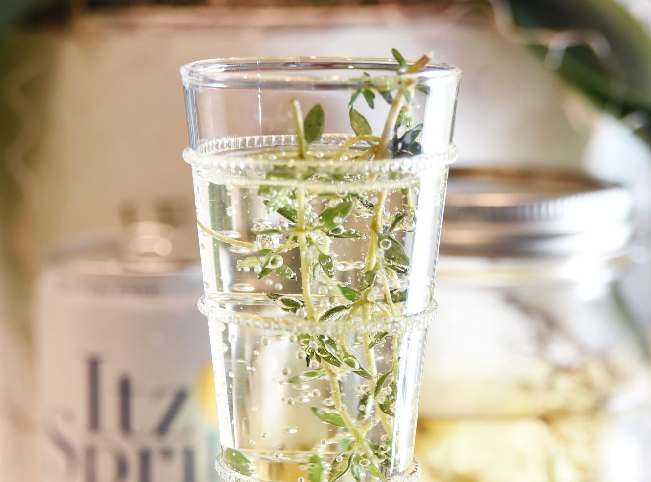 Hope in a Flute with Itz Spritz Elderflower & Citrus, Tito's vodka and frseh thyme.