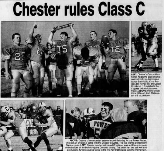 Northern Division rivals Chester and Power met for the Class C football championship in 1998.