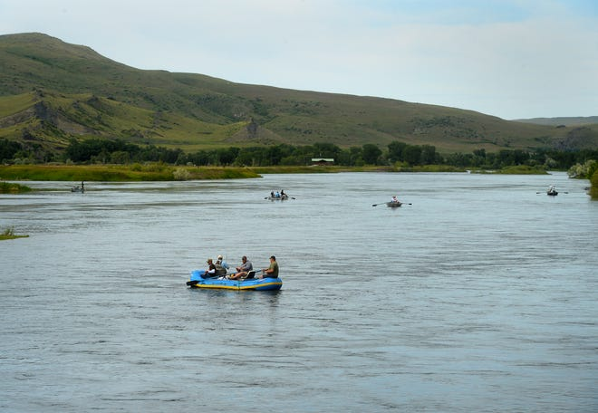 Anglers fish the Missouri River on Monday, June 12, 2017.