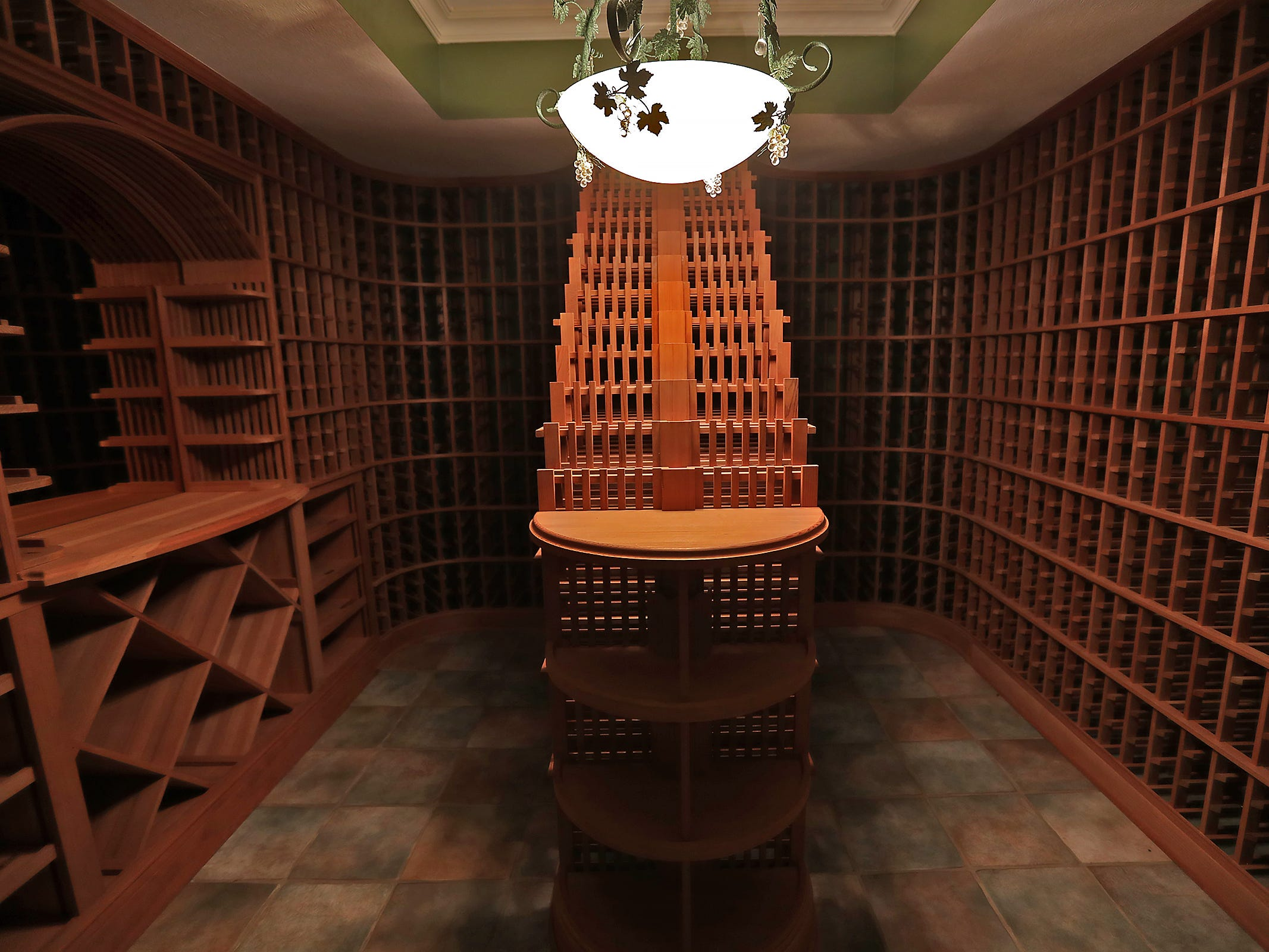 This is the wine cellar in the home at 1270 Laurelwood Ct. in Carmel, Friday, Dec. 28, 2018.