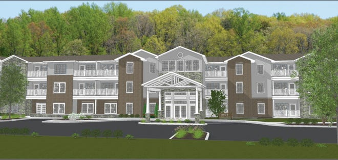 An illustration of Ritchey Reserve, the affordable housing for people 55 and older being planned in Fishers next to Ritchey Woods.