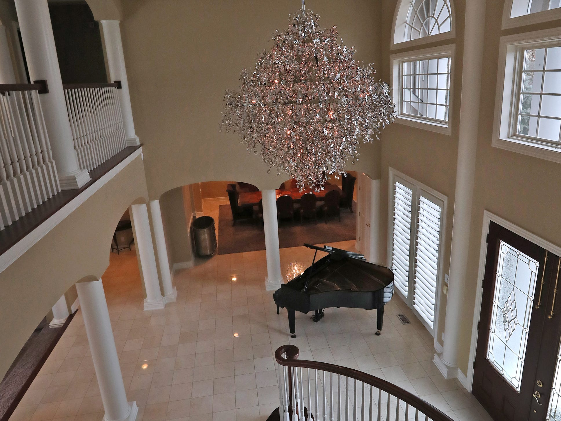 This is a look down into the two-story front foyer in the home at 1270 Laurelwood Ct. in Carmel, Friday, Dec. 28, 2018.
