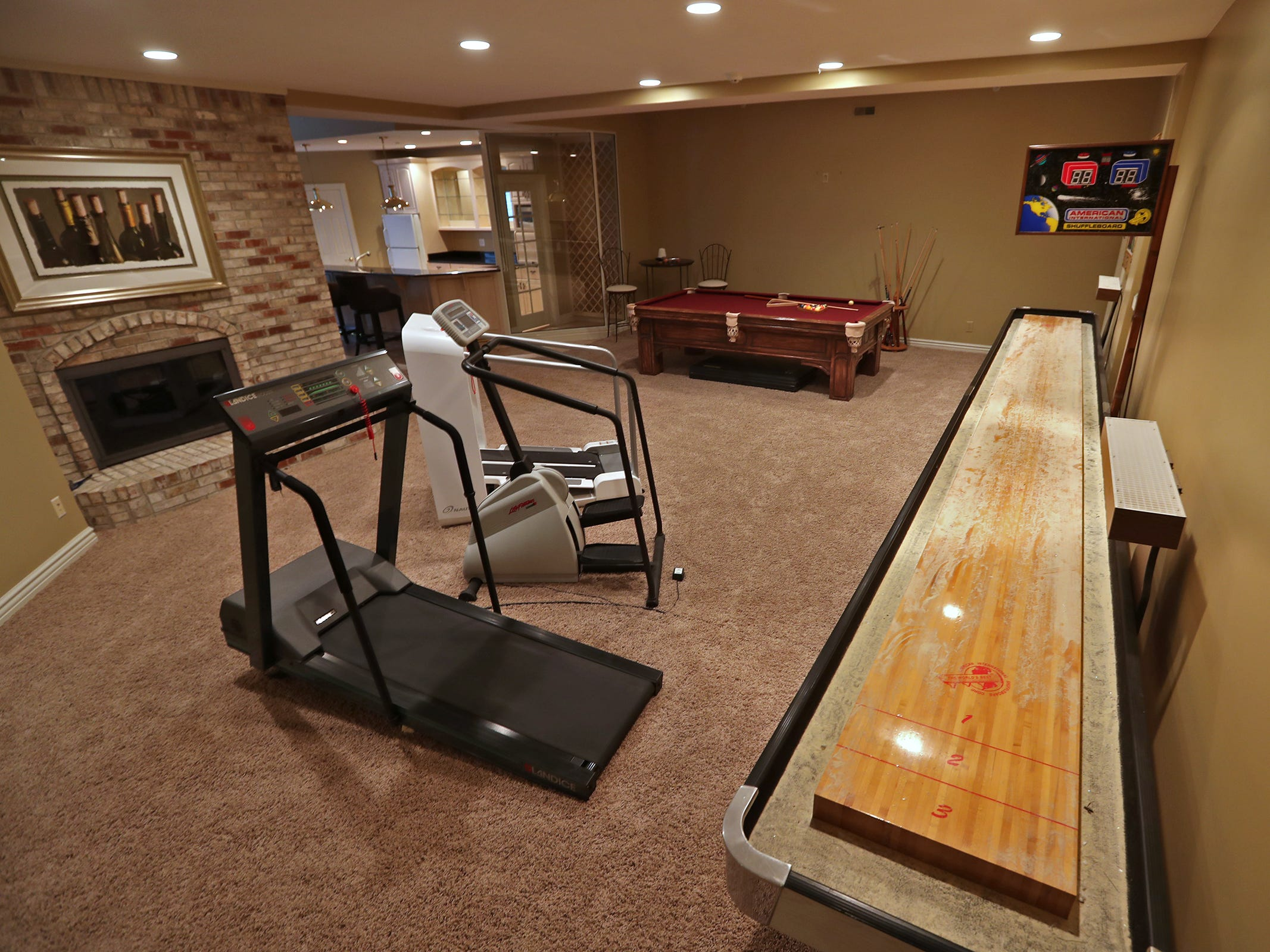 This is an activity room in the basement of the home at 1270 Laurelwood Ct. in Carmel, Friday, Dec. 28, 2018.