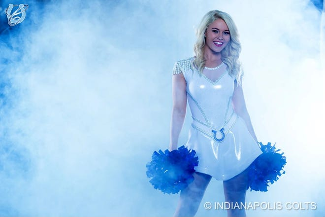Colts cheerleaders unveiled a new uniform this week that they say is less revealing and allows for better movement.