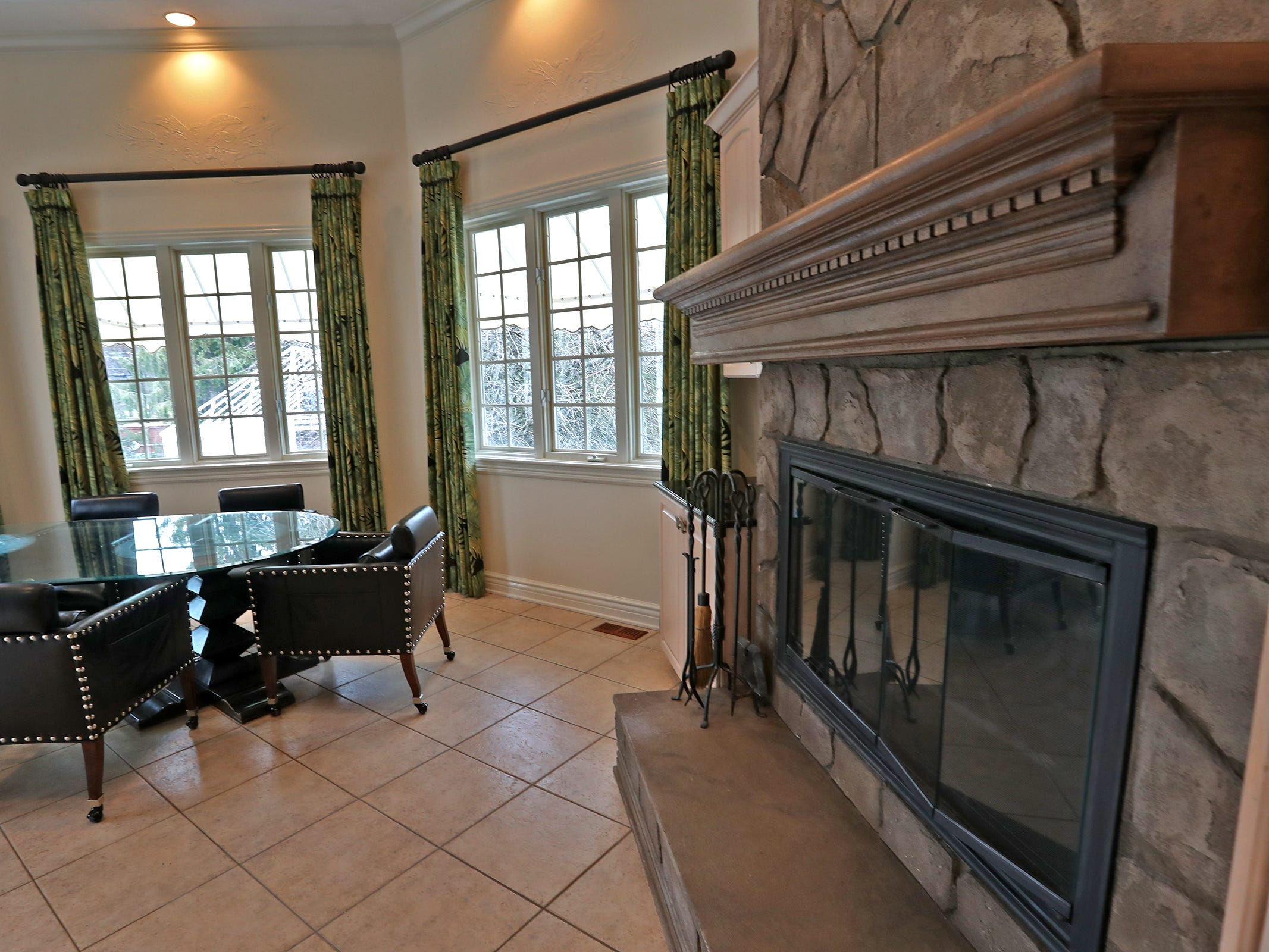 This is the eating area, with a fireplace, off the kitchen, in the home at 1270 Laurelwood Ct. in Carmel, Friday, Dec. 28, 2018.