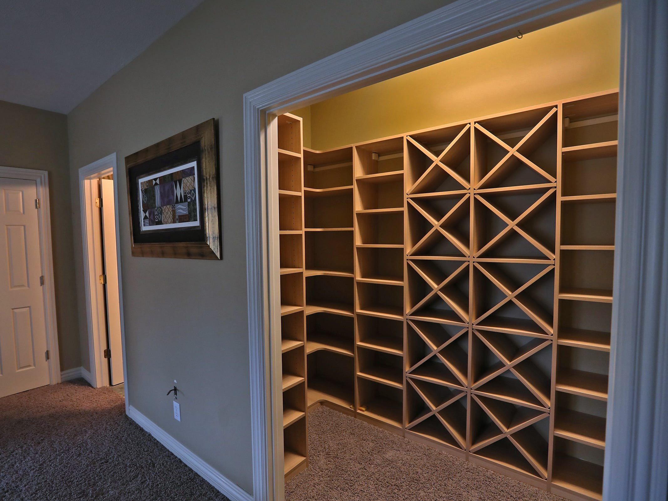 This is a walk-in closet for one of the bedrooms in the home at 1270 Laurelwood Ct. in Carmel, Friday, Dec. 28, 2018.