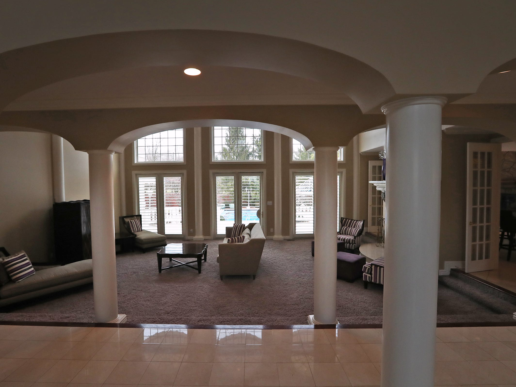 This is the first floor living area in the home at 1270 Laurelwood Ct. in Carmel, Friday, Dec. 28, 2018.