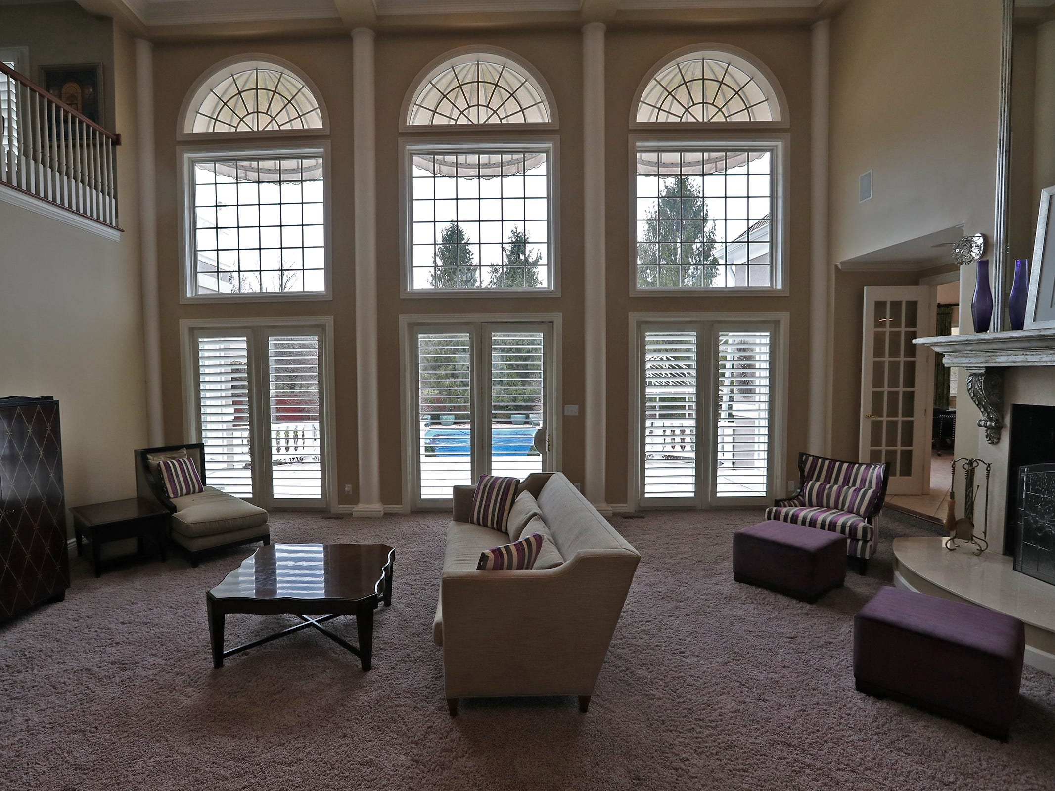 This is the two-story living area in the home at 1270 Laurelwood Ct. in Carmel, Friday, Dec. 28, 2018.