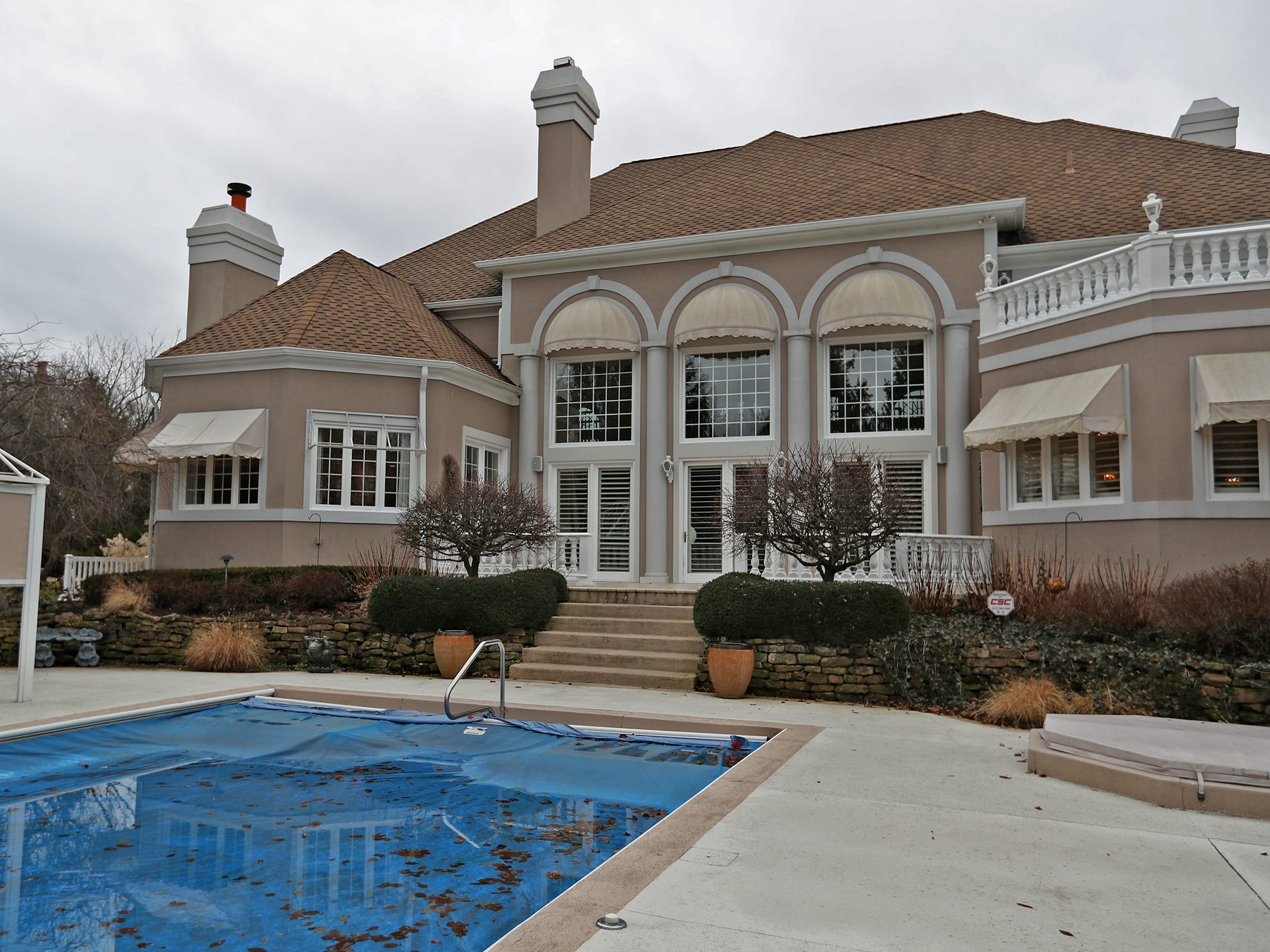 A pool is seen behind this home at 1270 Laurelwood Ct. in Carmel, Friday, Dec. 28, 2018.
