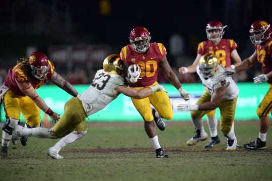 USC's speed challenged the Fighting Irish in a closer-than-expected game Nov. 24.