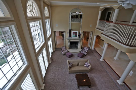 This is a look down into the two-story living area in the home at 1270 Laurelwood Ct. in Carmel, Friday, Dec. 28, 2018.