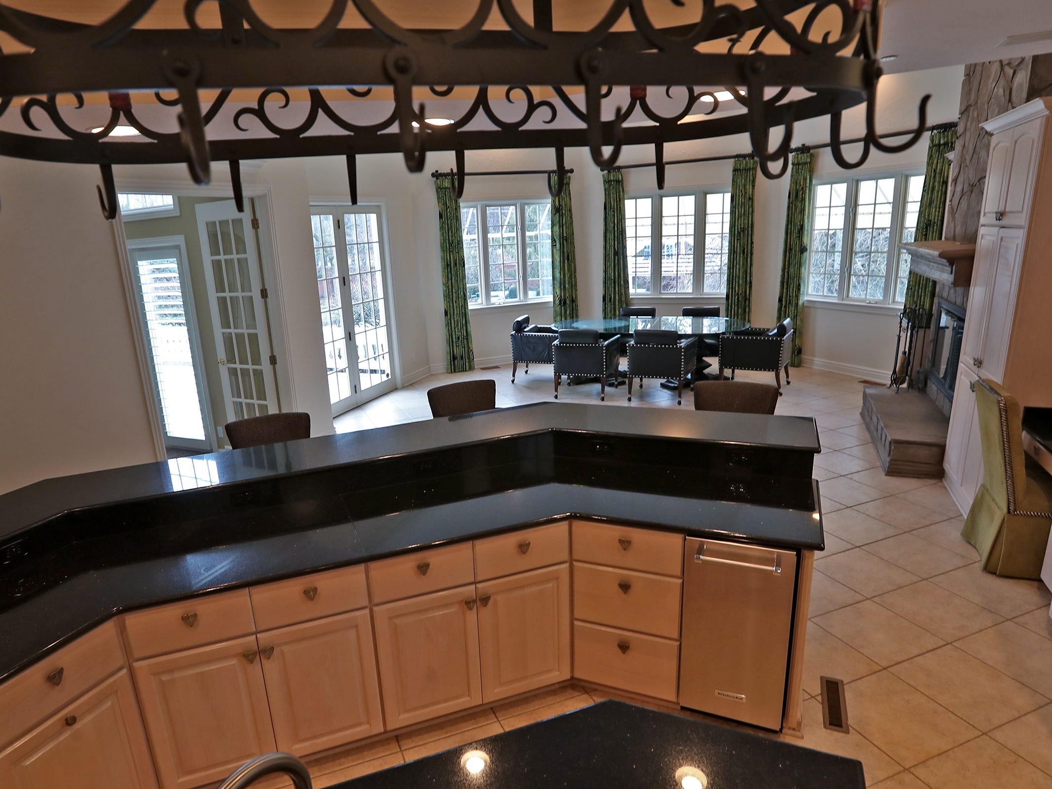 This is the kitchen with a dining area in the home at 1270 Laurelwood Ct. in Carmel, Friday, Dec. 28, 2018.