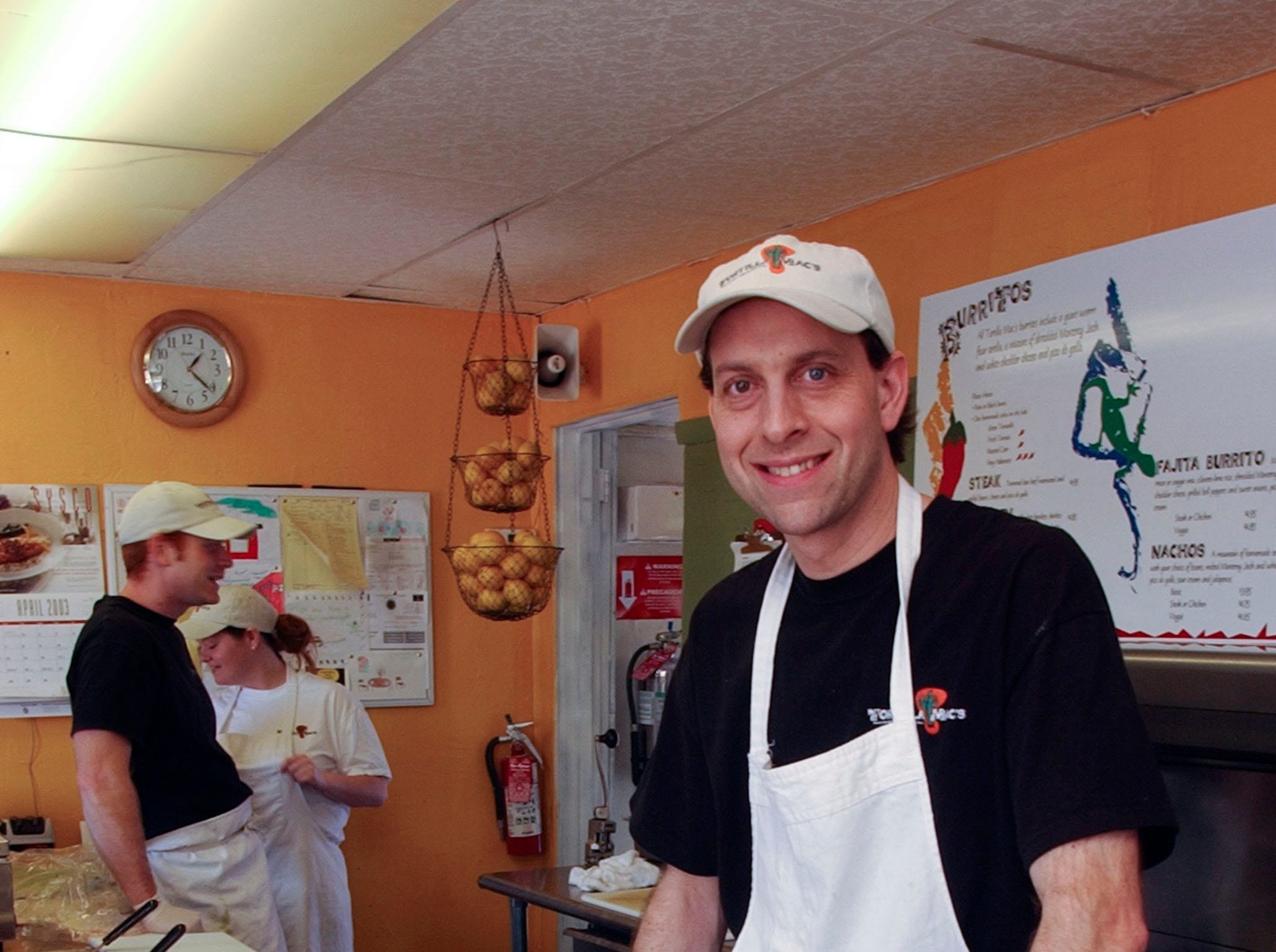 Harold McLean is the owner and operator of Tortilla Mac's in the former Blue Circle Building on Union Avenue in 2001.