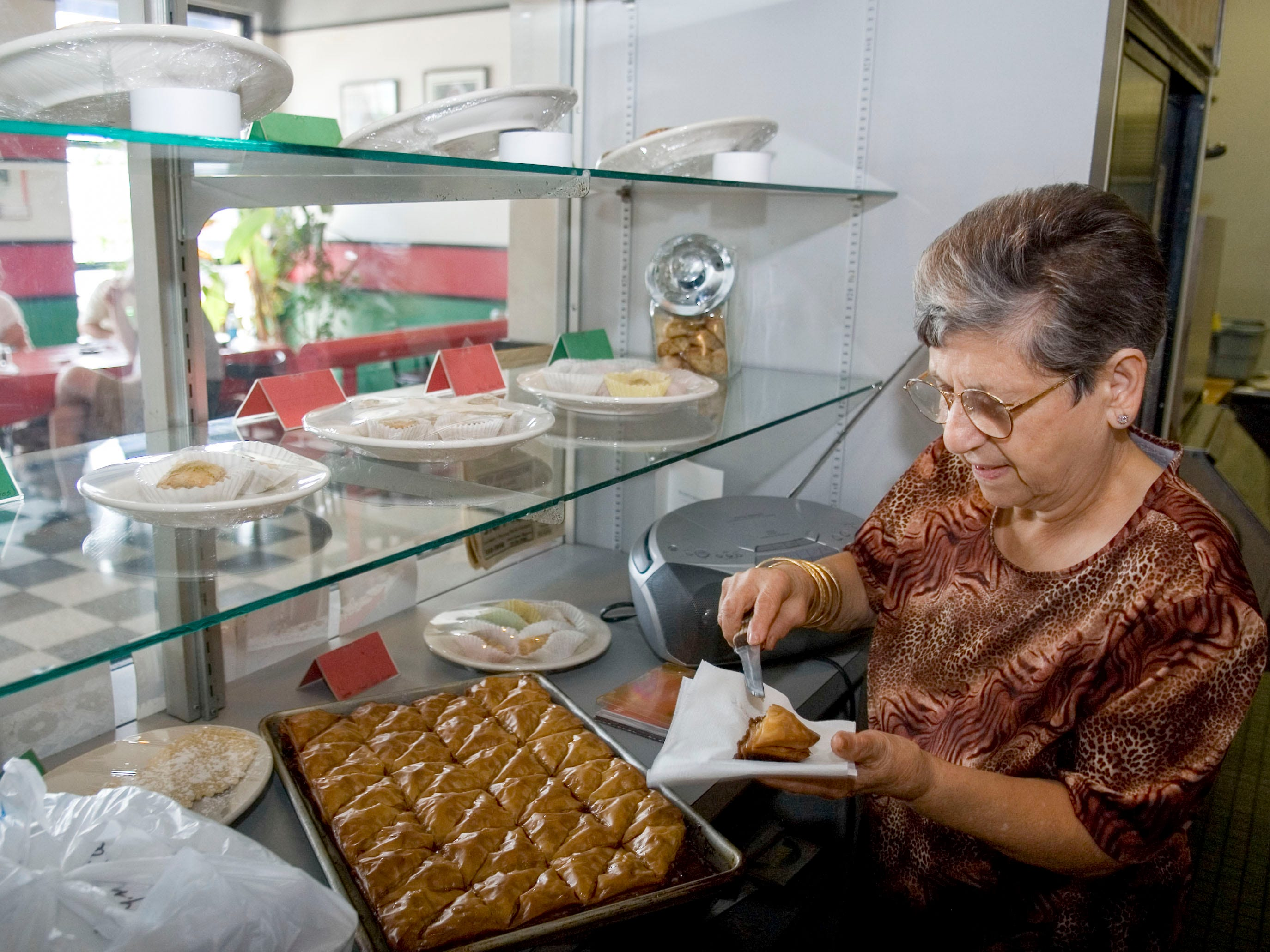 The Falafel Hut founder Renee Jubran in 2007.