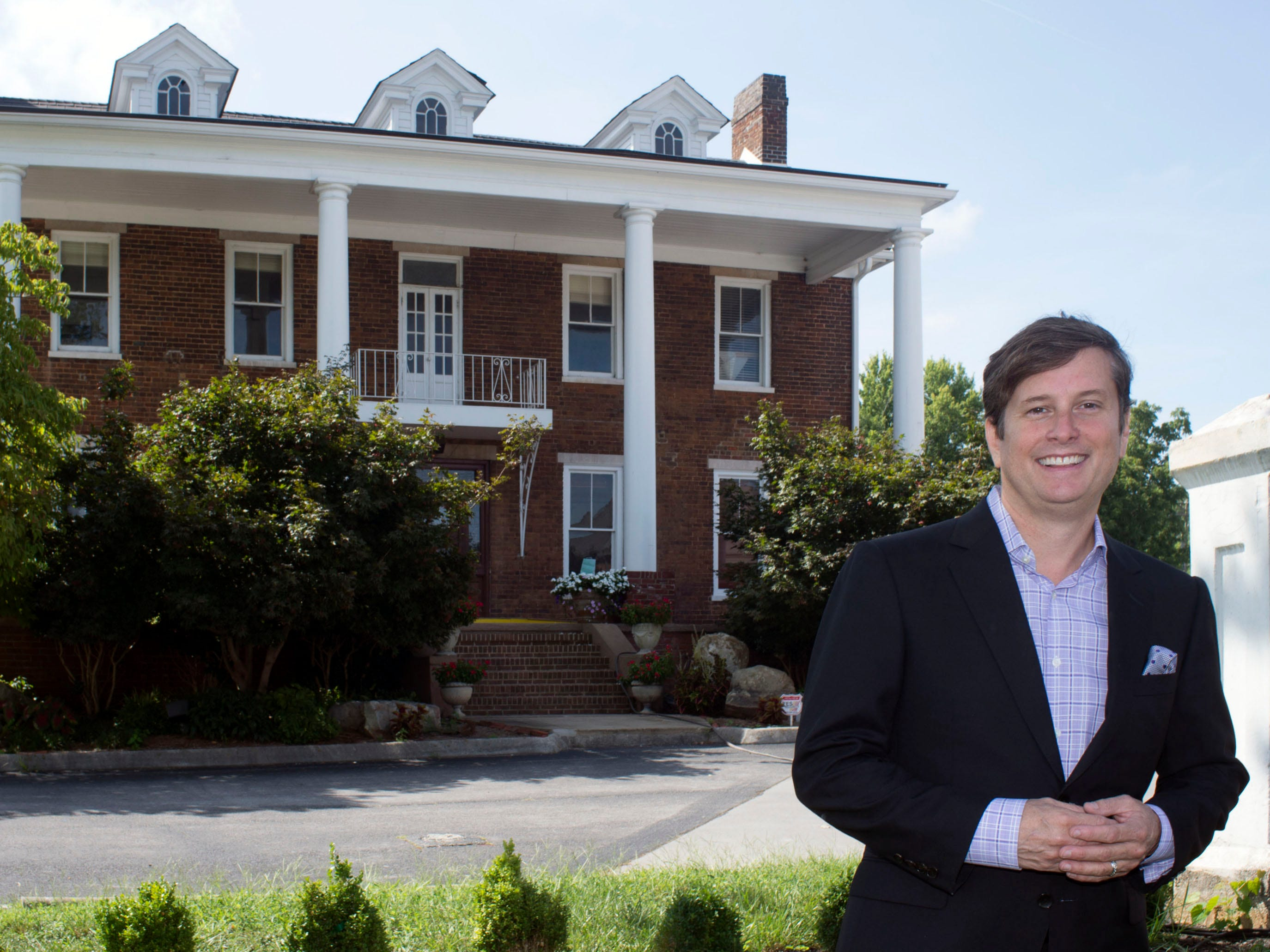 Developer Tony Cappiello visits the former Baker Peters house which he has leased Friday, Aug. 21, 2015, in West Knoxville. He plans to open a restaurant there early next year. The building formerly housed the Baker Peters Jazz Club.