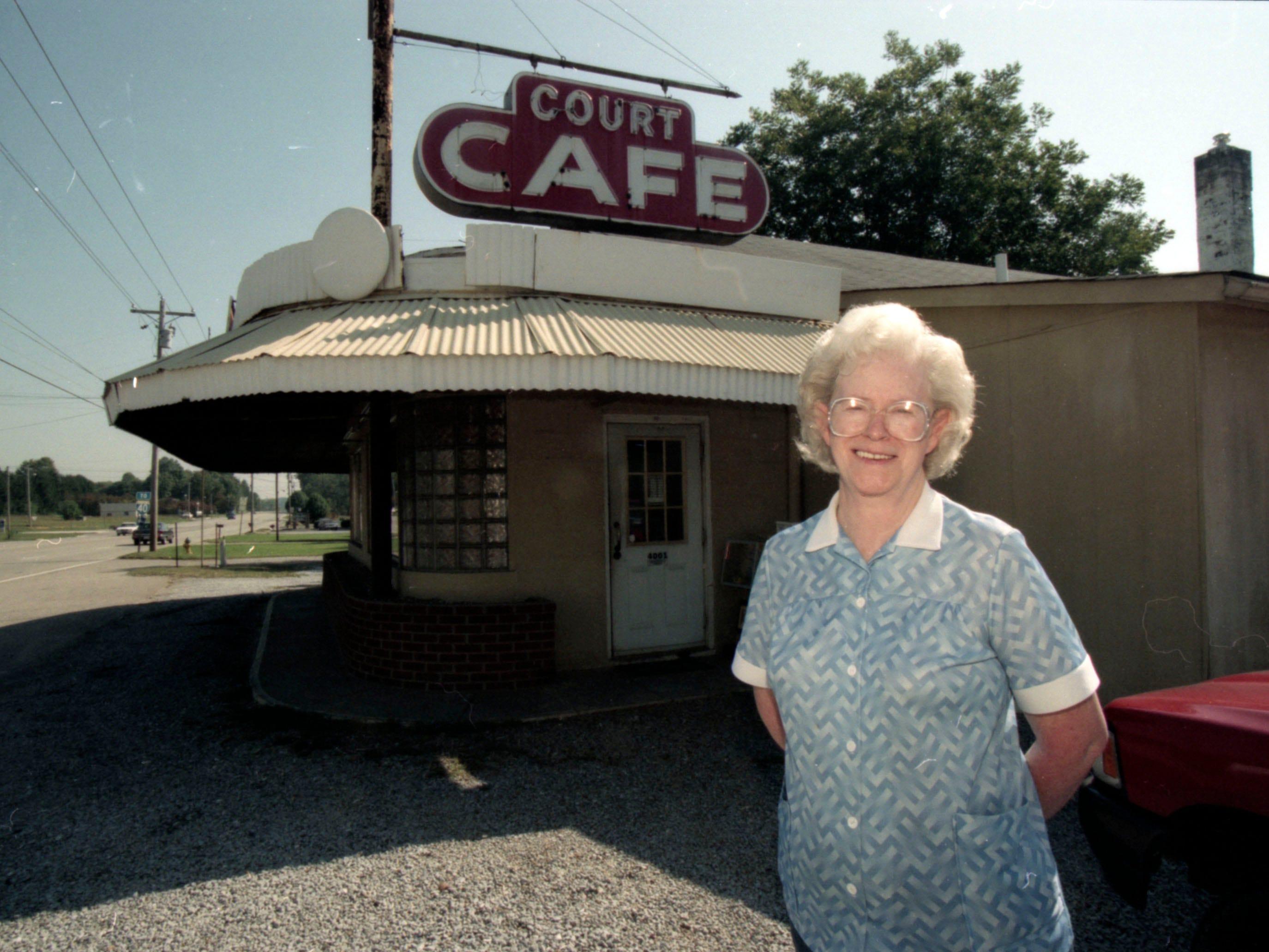 Court Cafe owner Jen Byrd in 1995.