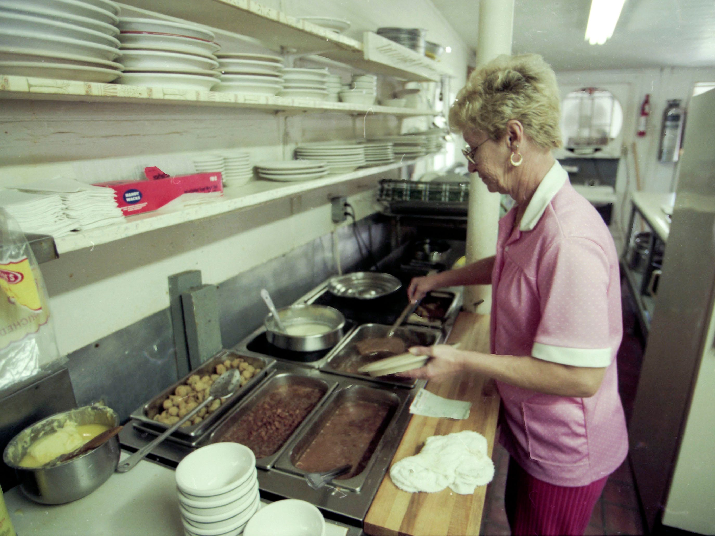 Court Cafe owner Margaret Guider in 1995.