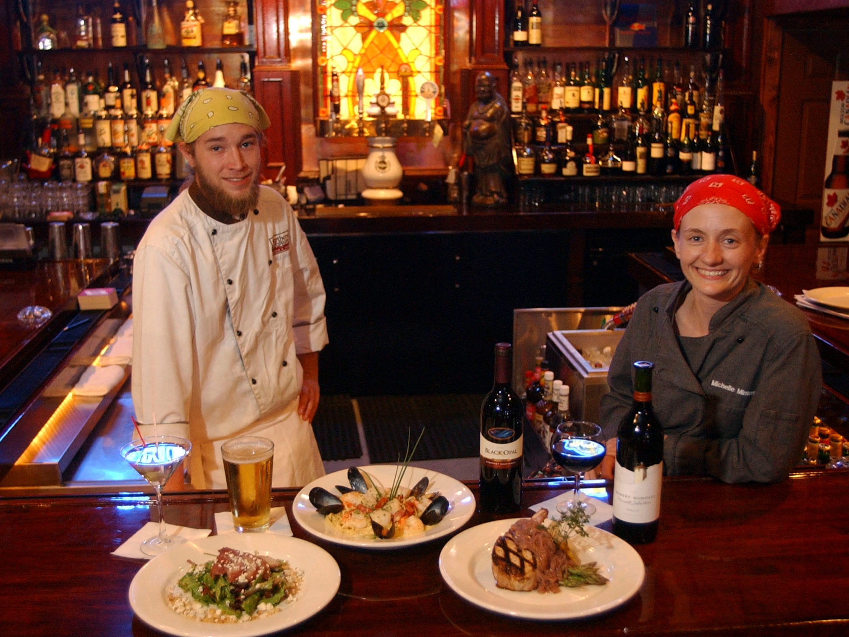 Northern Exposure Executive Chef Christopher Everett and Michelle Minton in 2003. Northern Exposure is a new restaurant on Kingston Pike at the Stone Crest Shopping center in Farragut.