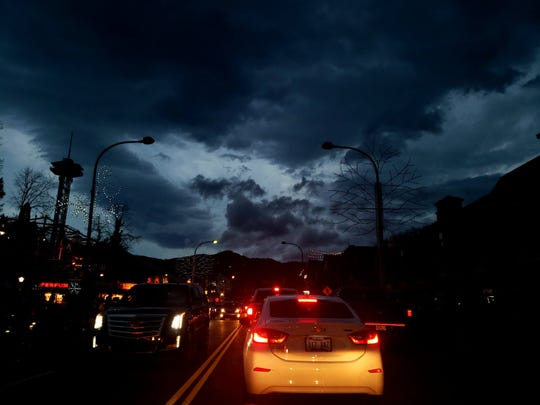 Paula Comeaux was driving near Ober Gatlinburg during a widespread power outage Thursday. More than 1,400 places were impacted by the outage at its peak.