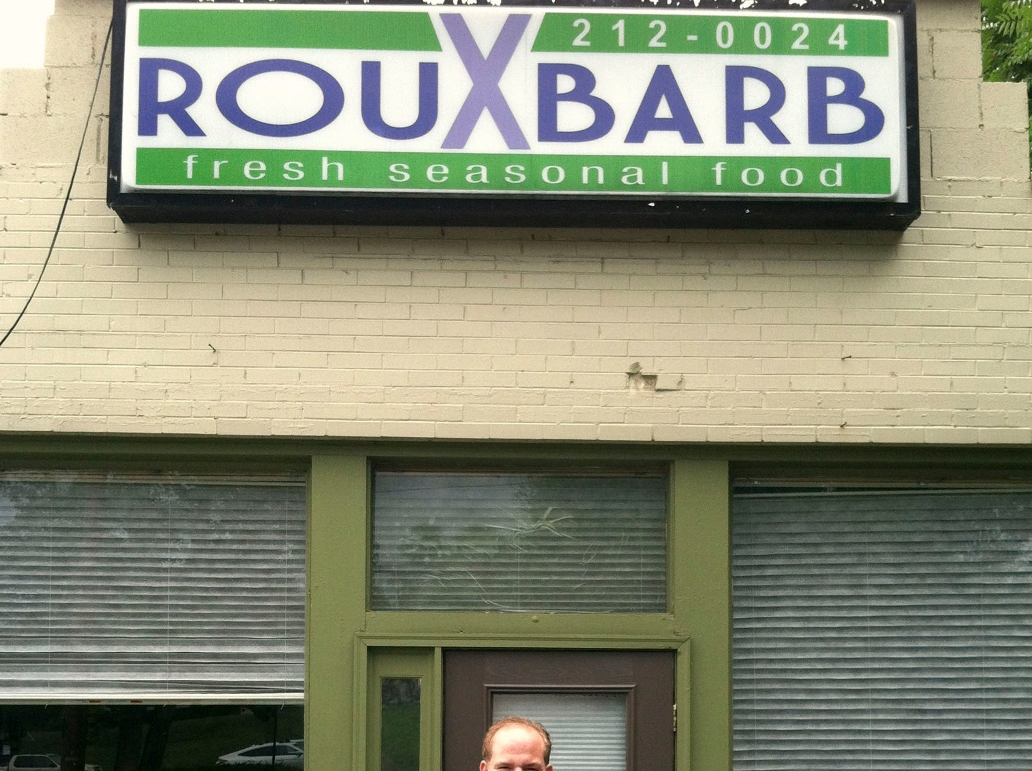 Bruce Bogartz, executive chef and owner of RouXbarb, stands in front of his restaurant at 130 South Northshore Dr. in Knoxville in 2012.