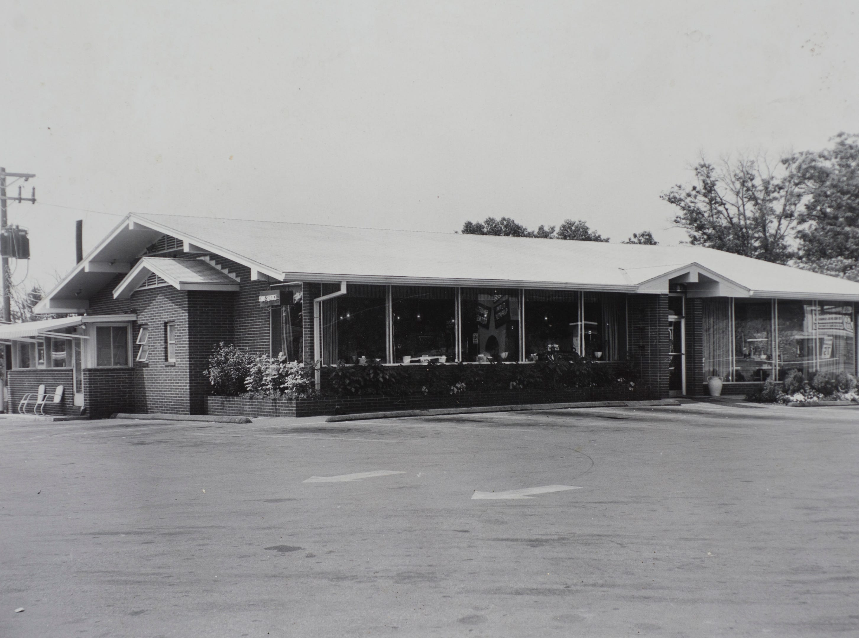 Helma's restaurant on Asheville Highway is pictured in the 1960s.
