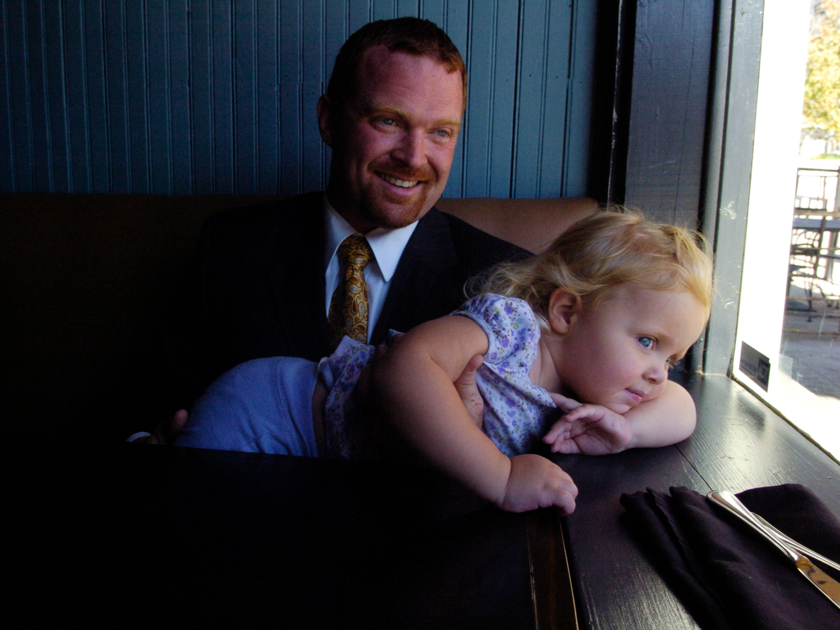 "Gregg White and 2-year-old daughter Emma Claire in 2007. La Costa on Market Square Mall is the second Tennessee restaurant to be certified ""Green"" by the Green Restaurant Association."