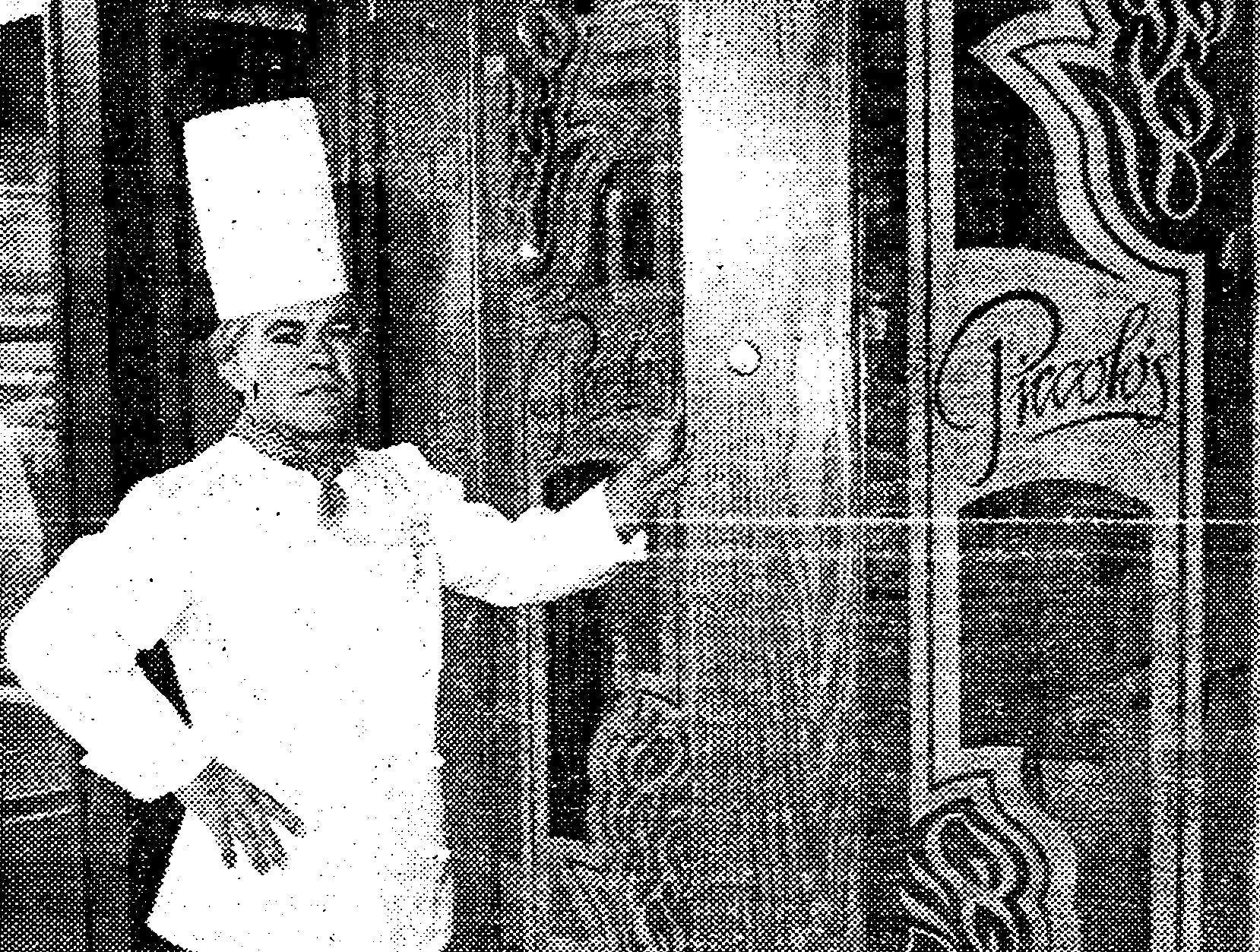 Exio Zatti, executive chef at Piccolo's at the corner of Union Ave. and Walnut St. in 1982.