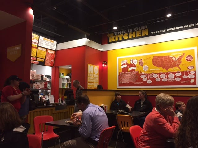 Tomato soups and gourmet grilled cheese sandwiches are the primary offerings at Tom+Chee, 9159 Kingston Pike in 2015.