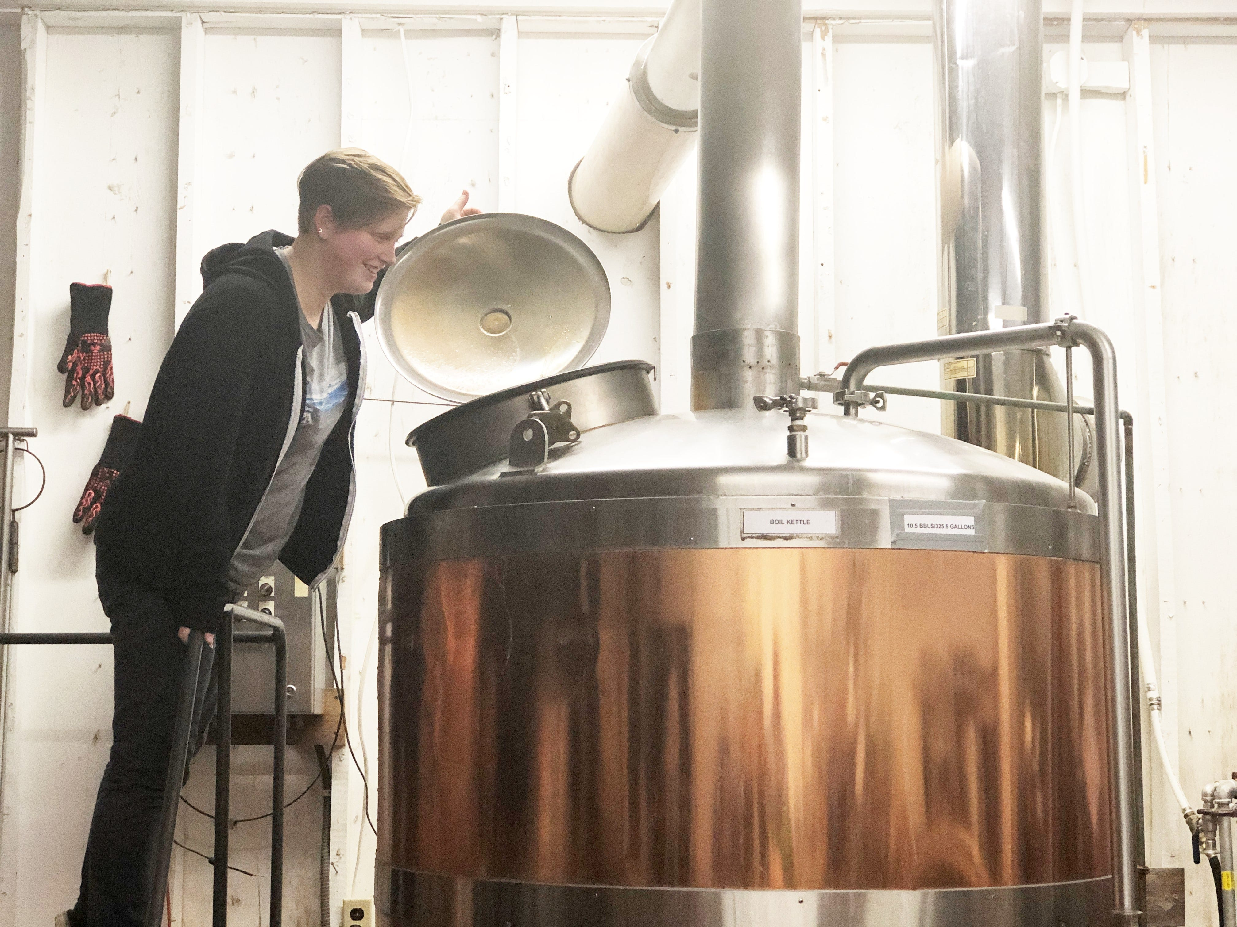 Head brewer Jordan Skeen was working an idyllic job at a brewery in Brevard, North Carolina when the folks at Clinch River Brewing lured her back to East Tennessee with a dream opportunity to work in the midst of Norris Dam State Park.