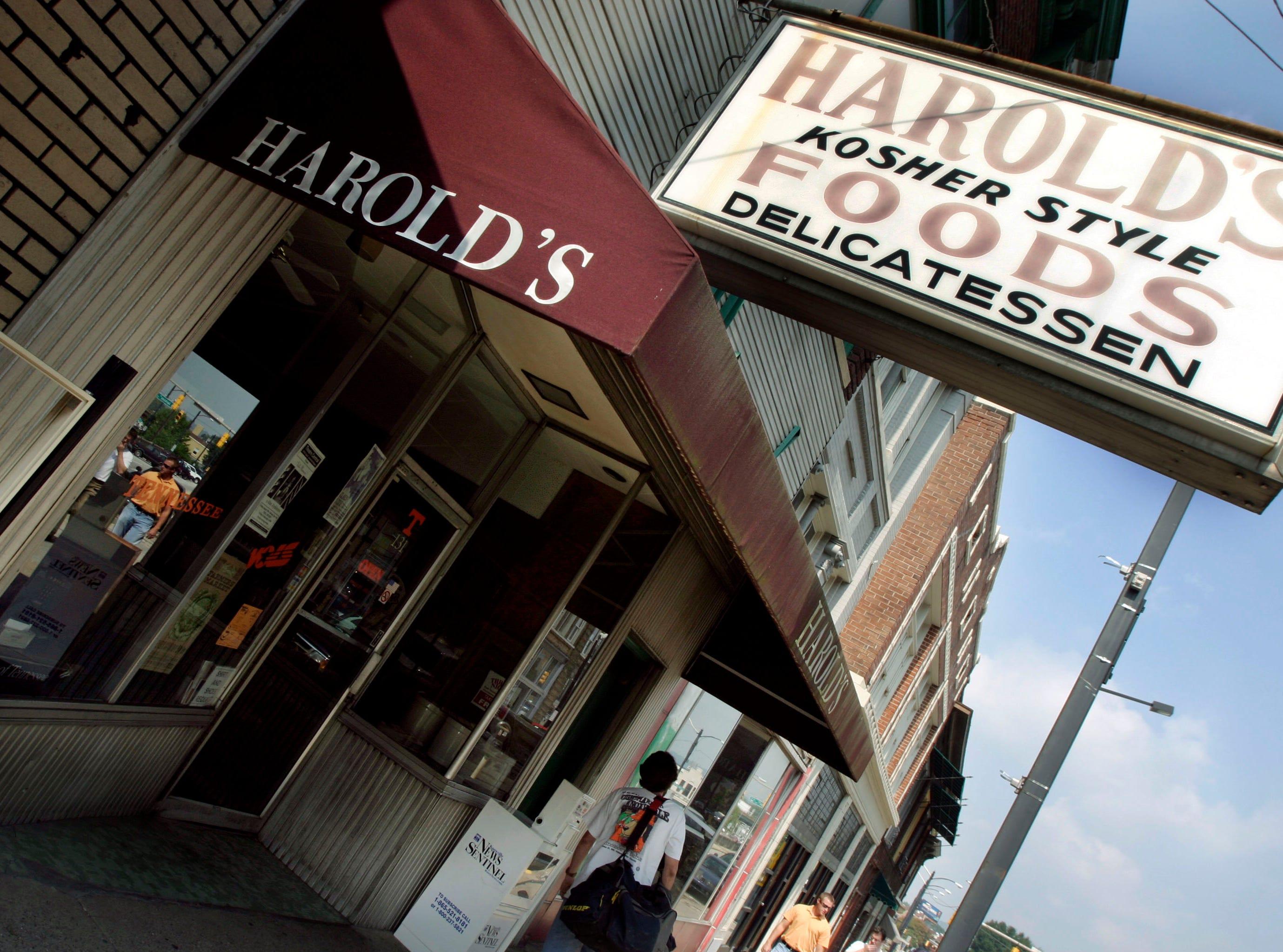 Harold's Deli in 2004.