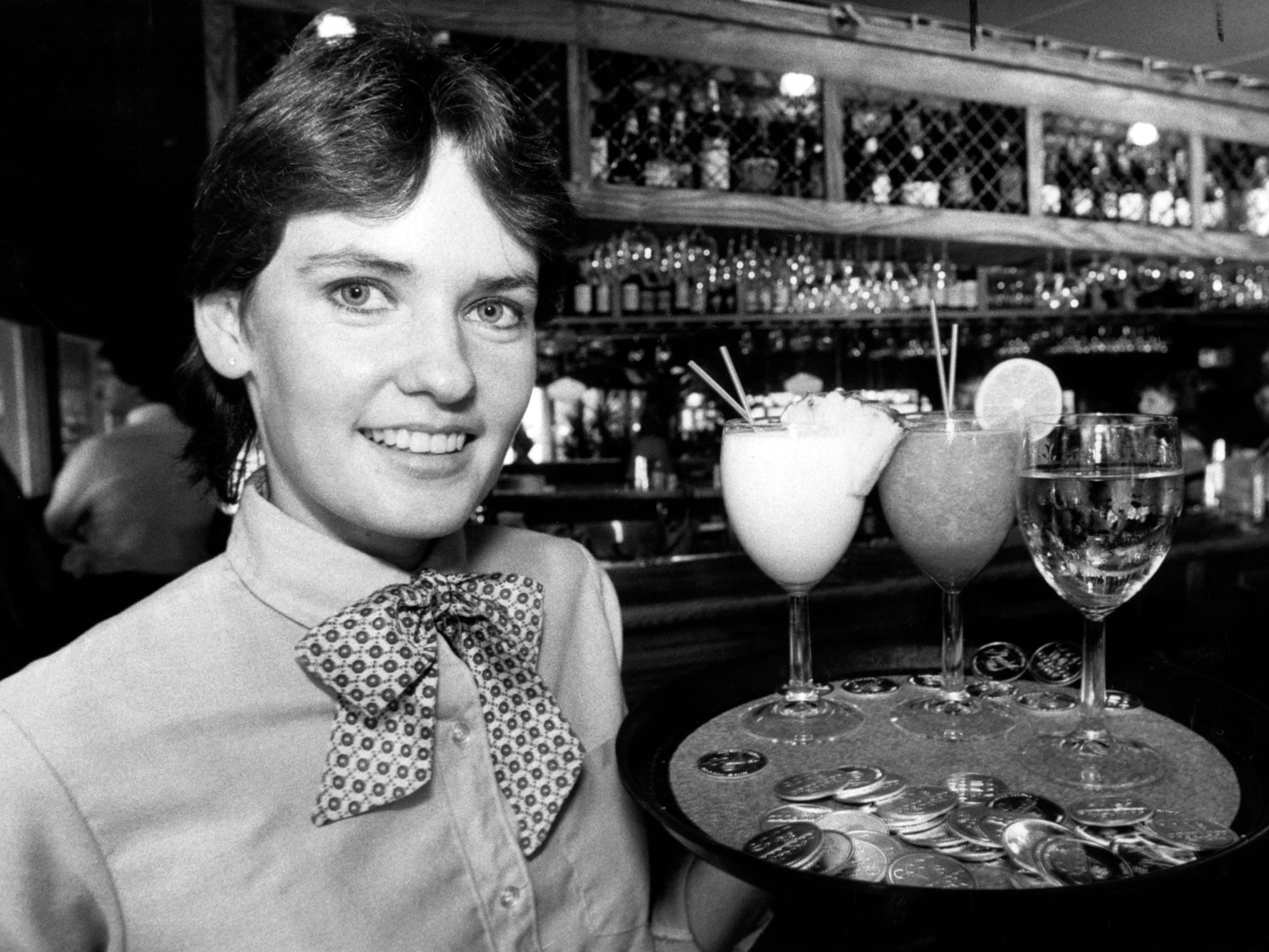 Sharon Cleary at Grady's Good Times Restaurant in 1982.