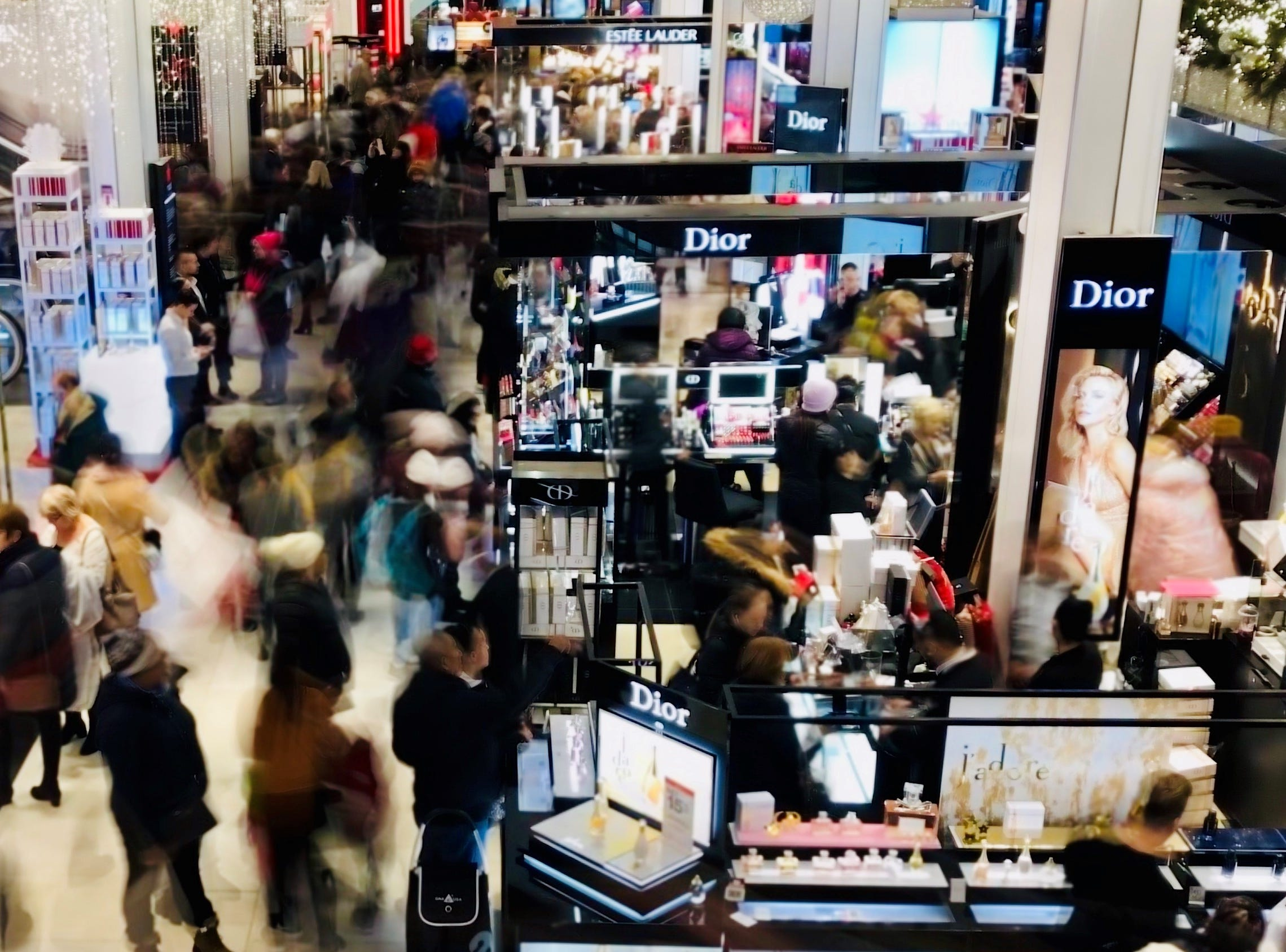 Bill Ramsey captured Christmas shoppers at Macy's on 34th St. during a recent trip to New York City on Dec. 8, 2018.
