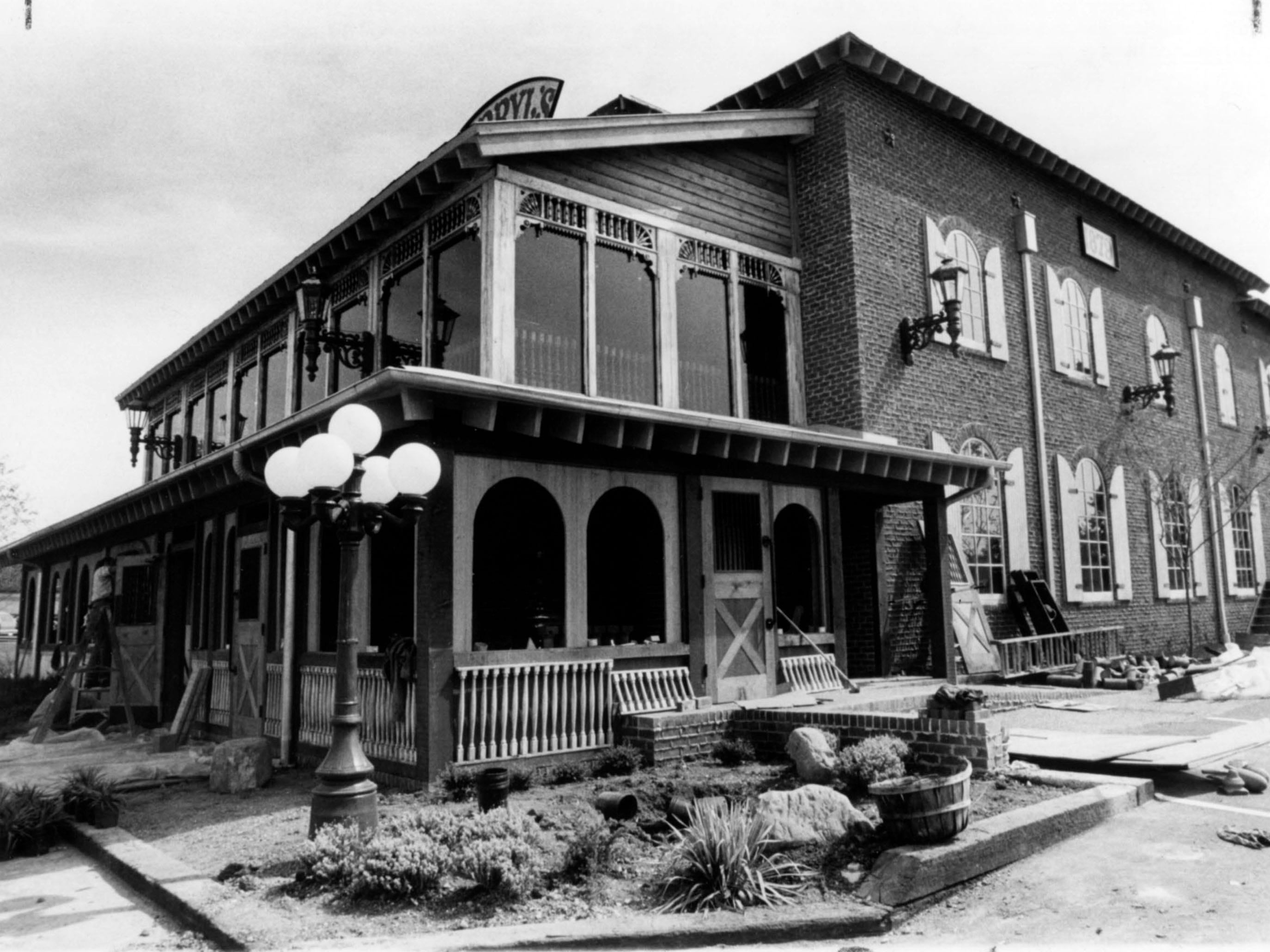 Darryl's 1879 restaurant nearing completion in September 1979.