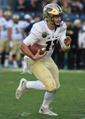 Senior QB David Blough scrambles for yardage Friday in Nashville.