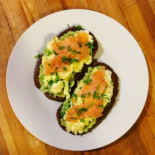 Chef Anne's cure for the holiday food hangover is a filling protein-rich egg toast.