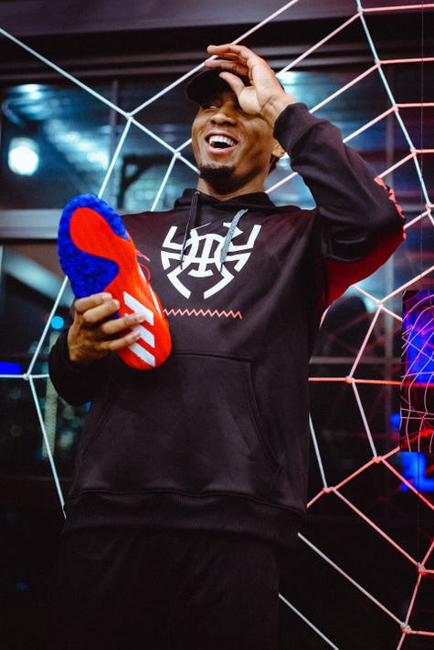NBA star Donovan Mitchell unveils new signature Adidas shoe f442361546