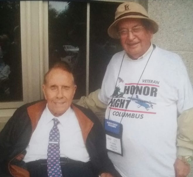 WWII Army Air Corps veteran Morrie Sheffer with Bob Dole.