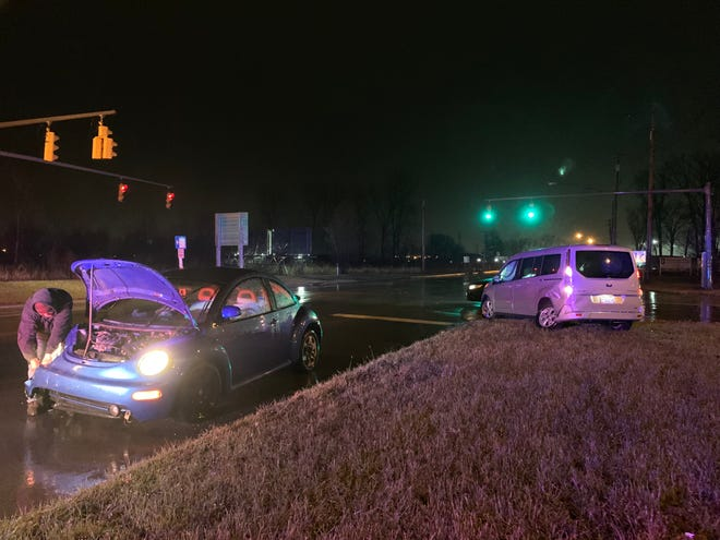 Two vehicles were involved in a crash on North Main Street near the U.S. 30 on-ramp at 7:45 p.m. Dec. 27, 2018.