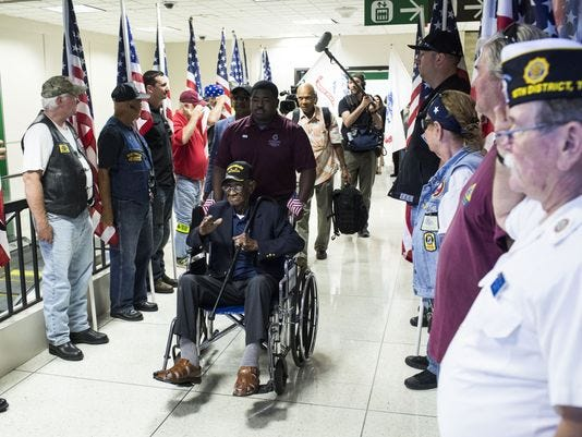 Richard Overton, the nation's oldest living World War II veteran whose grandfather was born on the Nashville area plantation of Memphis co-founder John Overton, died Thursday evening in Austin, Texas.