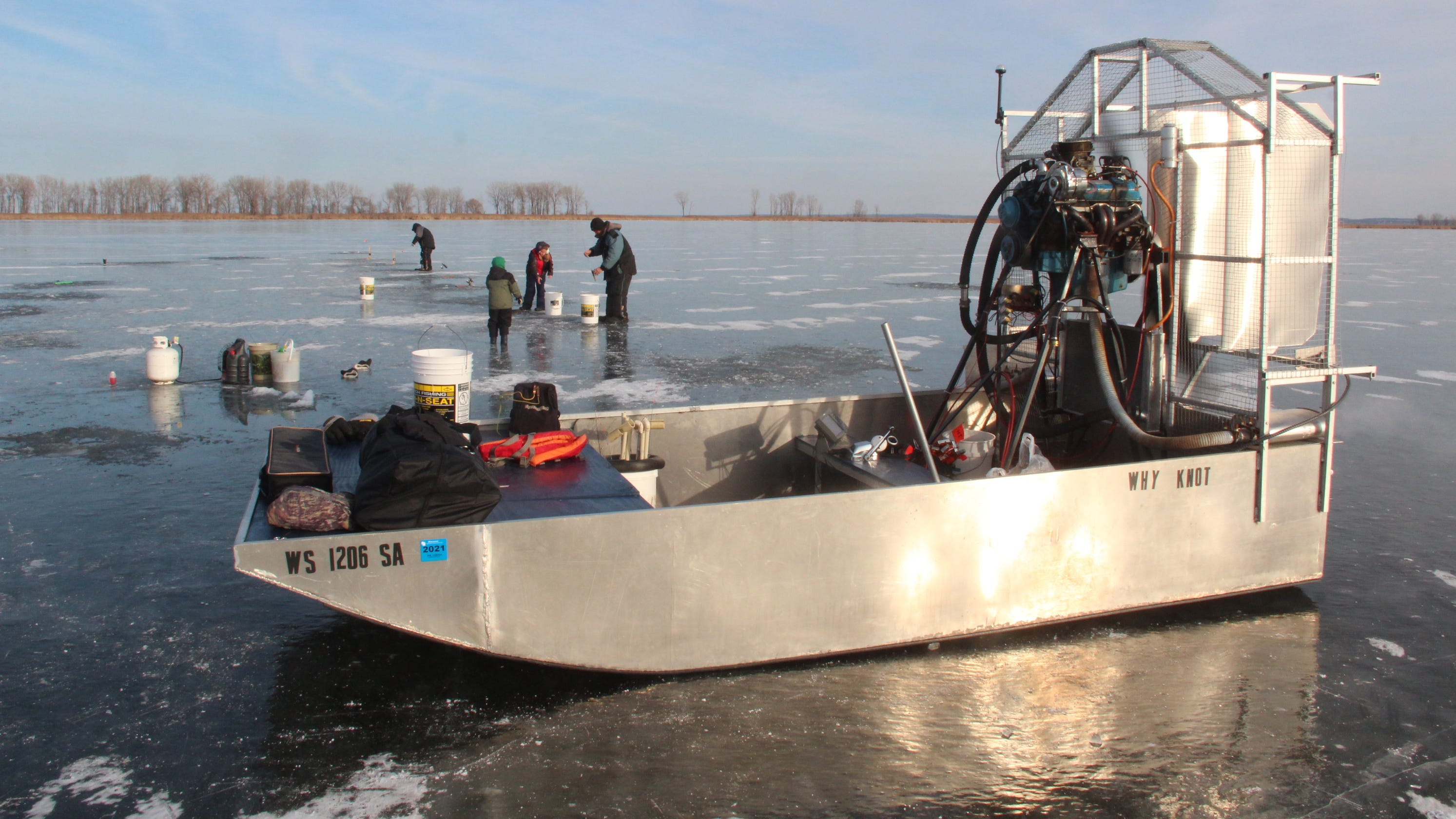 Open Water Slush Or Ice Airboat Is An Option For Door