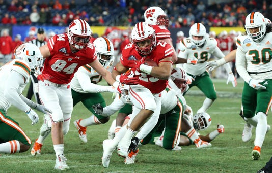 Ncaa Football Pinstripe Bowl Wisconsin Vs Miami