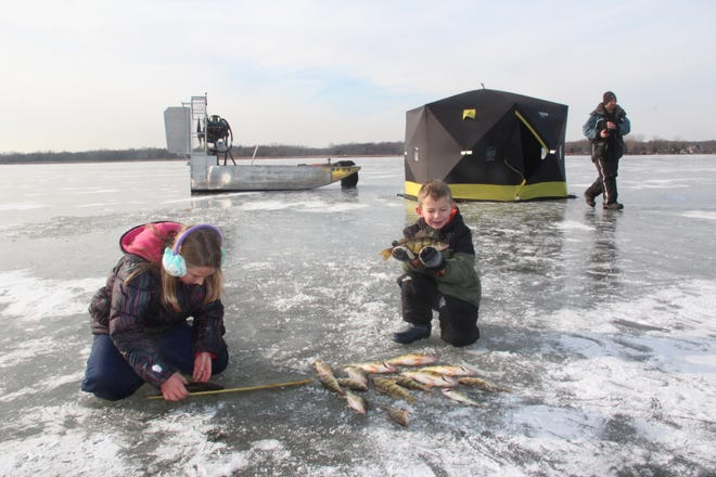 """Permanent ice structures, sometimes referred to as """"permies,"""" must be removed from public lakes in South Dakota no later than March 10."""