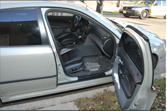 This Saab was released to its owner four days after two men were shot inside, and destroyed weeks later, before a defendant charged in the case could inspect it for evidence.