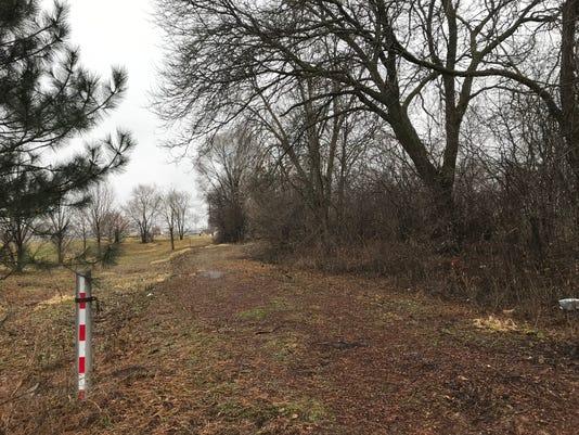 Wooded Area Along West Avenue Railroad Tracks