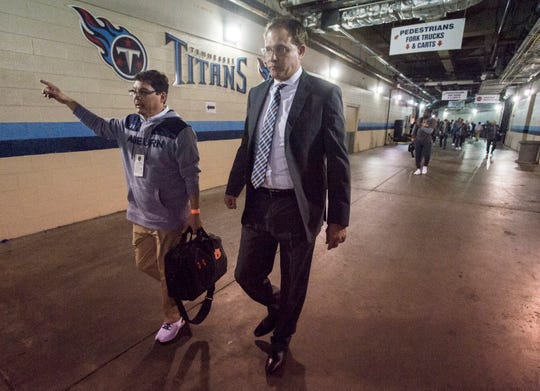 Auburn head coach Gus Malzahn arrives at Nissan Stadium in Nashville, Tenn., on Friday, Dec. 28, 2018. Auburn takes on Purdue in the Music City Bowl.
