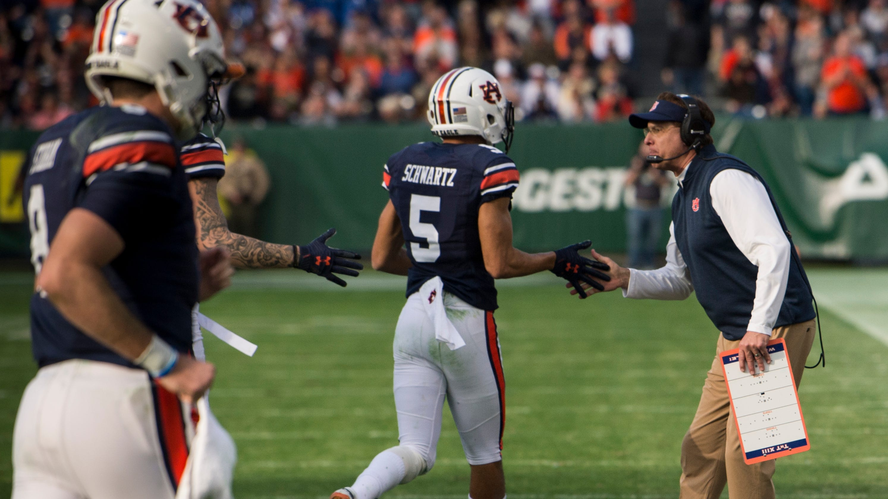 auburn offense erupts for record setting music city bowl performance