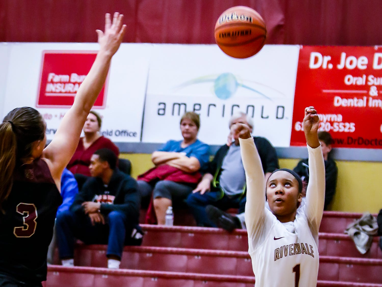 Riverdale's Alasia Hayes fires a jumper during Thursday's State Farm Classic win over Webster (Ky.).