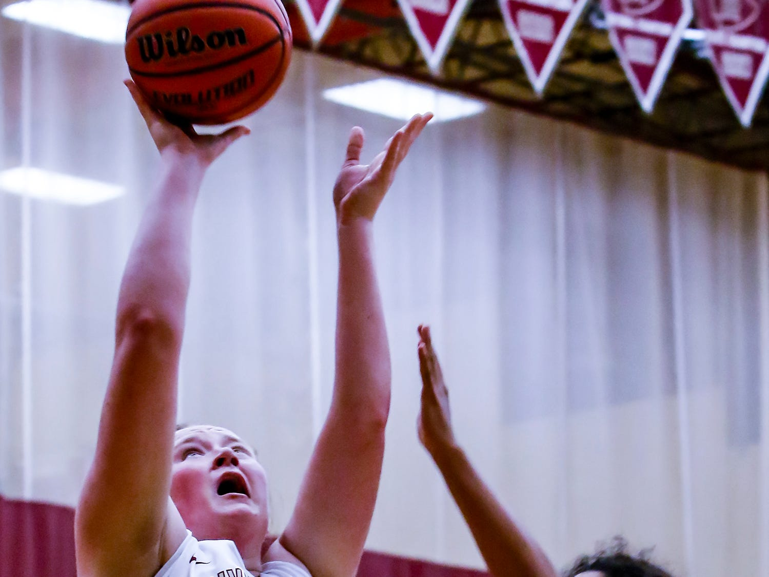 Riverdale's Katelyn Worley goes in for a layup during Thursday's State Farm Classic win.